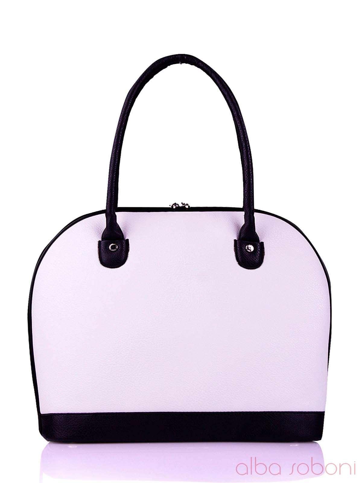 08c483d12c97 Молодежная сумка, модель 120710 белый. Фото товара, вид сзади.