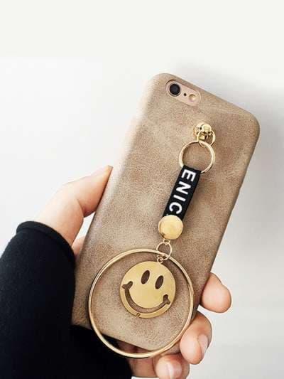 Брендовый брелок-подвеска на телефон smile золото. Фото товара, вид 1_product-ru