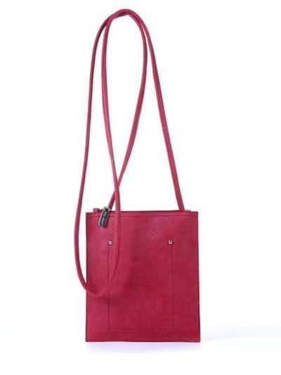 Модная сумка для покупок, модель 172753 красный. Фото товара, вид спереди.