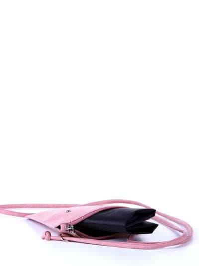 Молодежная сумка для покупок, модель 172754 розовый. Фото товара, вид сзади.