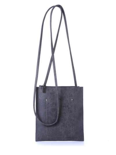 Модная сумка для покупок, модель 172756 темно-серый. Фото товара, вид спереди.
