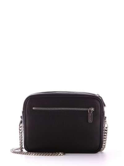 Стильный клатч, модель 172409 черный. Фото товара, вид сзади.