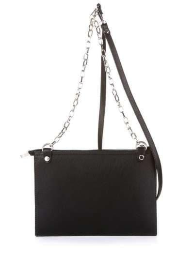 Модный клатч, модель 172769 черный. Фото товара, вид сзади.