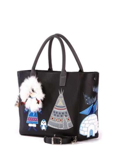 Молодежная сумка, модель 172939 черный. Фото товара, вид дополнительный.