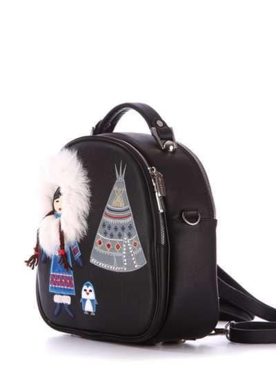 Модная сумка - рюкзак, модель 172959 черный. Фото товара, вид дополнительный.