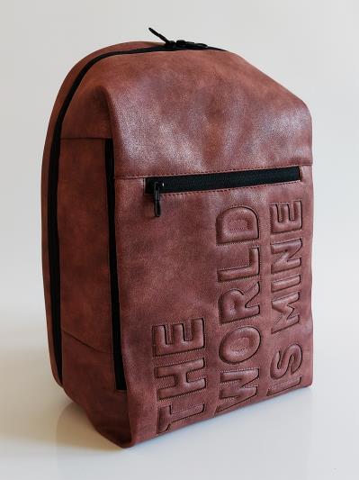Фото товара: рюкзак 212363 бордо-нікель. Вид 3.