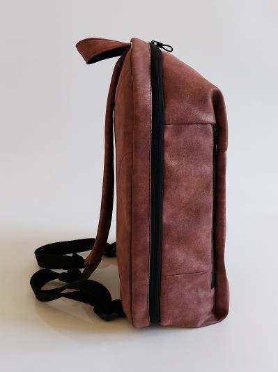 Фото товара: рюкзак 212363 бордо-нікель. Вид 4.