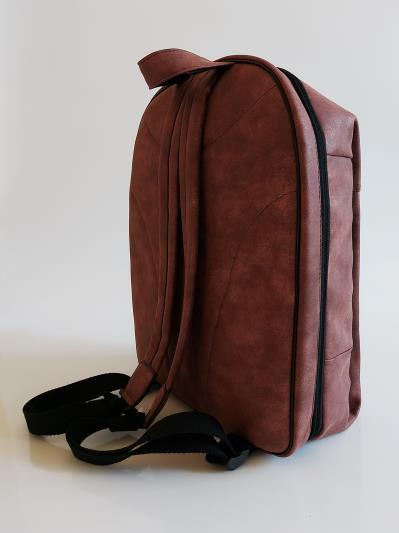 Фото товара: рюкзак 212363 бордо-нікель. Вид 5.