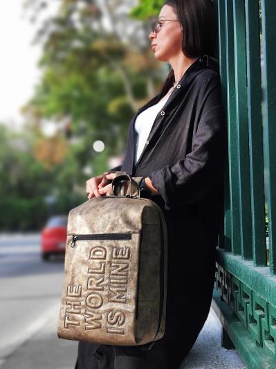 Фото товара: рюкзак 212364 хакі-нікель. Вид 1.