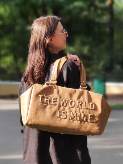Сумка для подорожі THE WORLD IS MINE alba soboni 212372 колір коричнева. Фото - 2