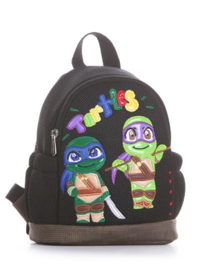 alba soboni. Дитячий рюкзак 2042 чорний. Вид 1.