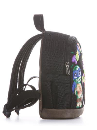 alba soboni. Дитячий рюкзак 2042 чорний. Вид 2.