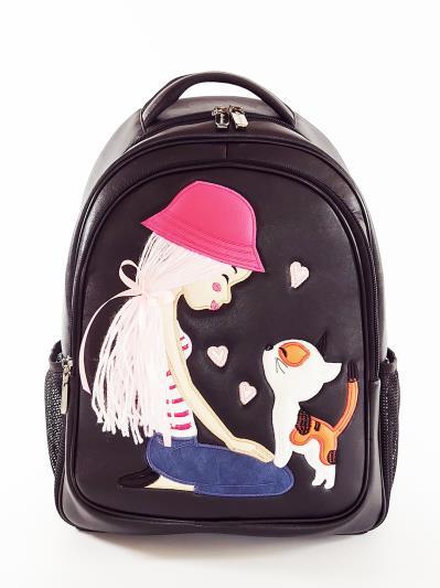 Фото товара: шкільний рюкзак 211705 чорний. Вид 1.