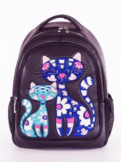 Фото товара: шкільний рюкзак 211706 чорний. Вид 1.
