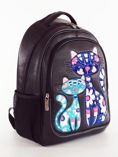 Фото товара: шкільний рюкзак 211706 чорний. Вид 2.