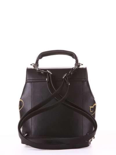 Молодежный рюкзак, модель 182921 черный. Фото товара, вид сзади.