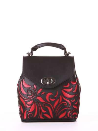 Молодежный рюкзак, модель 182924 черный. Фото товара, вид спереди.