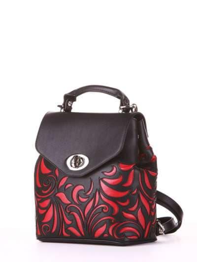 Молодежный рюкзак, модель 182924 черный. Фото товара, вид сбоку.
