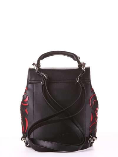 Молодежный рюкзак, модель 182924 черный. Фото товара, вид сзади.