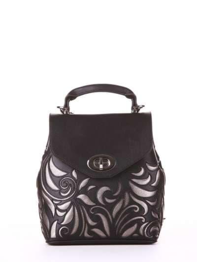 Брендовый рюкзак, модель 182925 черный. Фото товара, вид спереди.