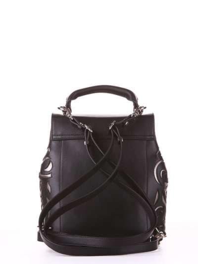 Брендовый рюкзак, модель 182925 черный. Фото товара, вид сзади.