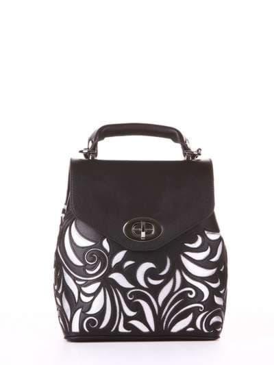 Модный рюкзак, модель 182926 черный. Фото товара, вид спереди.