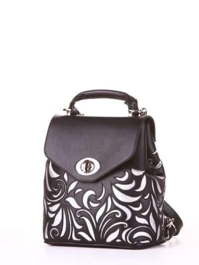 Модный рюкзак, модель 182926 черный. Фото товара, вид сбоку.