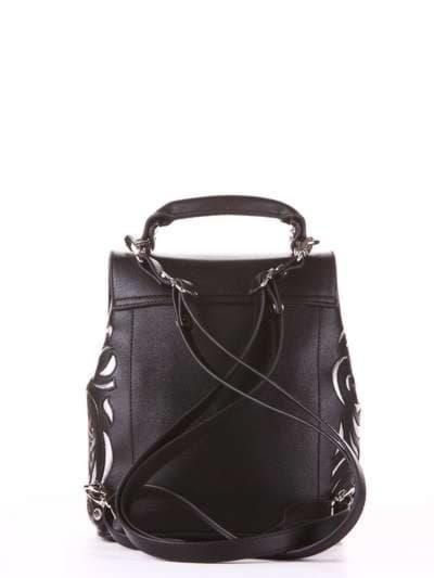 Модный рюкзак, модель 182926 черный. Фото товара, вид сзади.