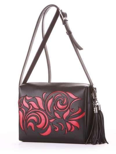 Брендовая сумка маленькая, модель 182914 черный. Фото товара, вид сбоку.