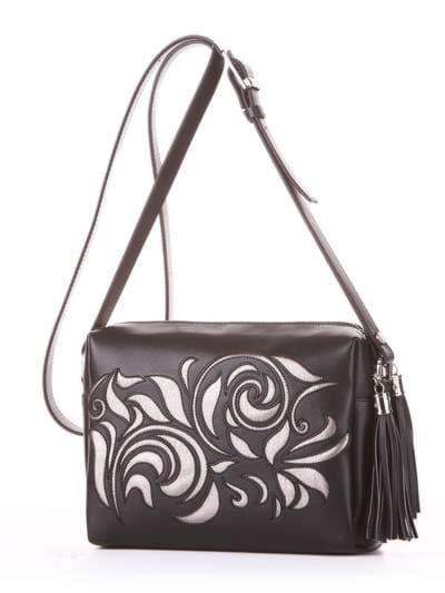Модная сумка маленькая, модель 182915 черный. Фото товара, вид сбоку.