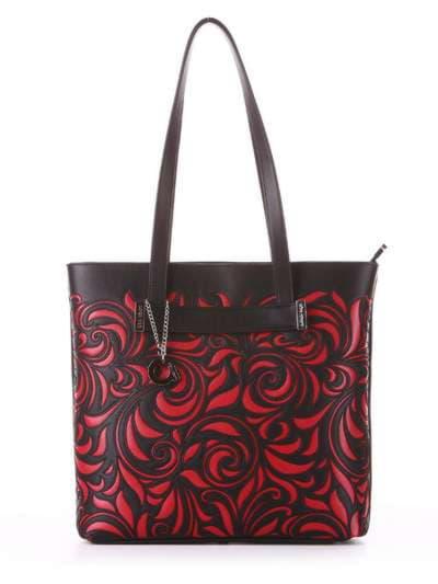 Молодежная сумка, модель 182904 черный. Фото товара, вид спереди.