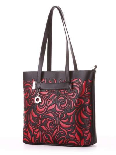 Молодежная сумка, модель 182904 черный. Фото товара, вид сбоку.