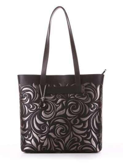 Молодежная сумка, модель 182905 черный. Фото товара, вид спереди.