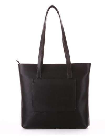 Молодежная сумка, модель 182905 черный. Фото товара, вид сзади.