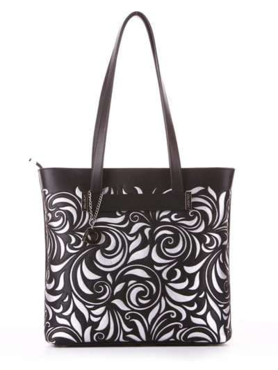 Молодежная сумка, модель 182906 черный. Фото товара, вид спереди.