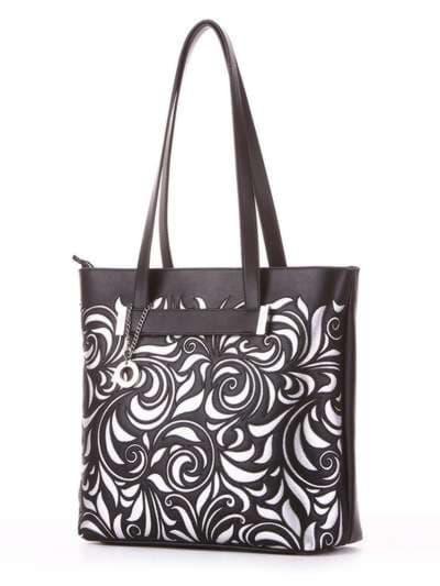 Молодежная сумка, модель 182906 черный. Фото товара, вид сбоку.