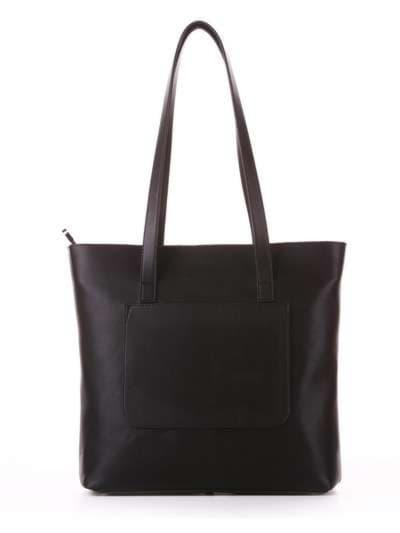 Молодежная сумка, модель 182906 черный. Фото товара, вид сзади.