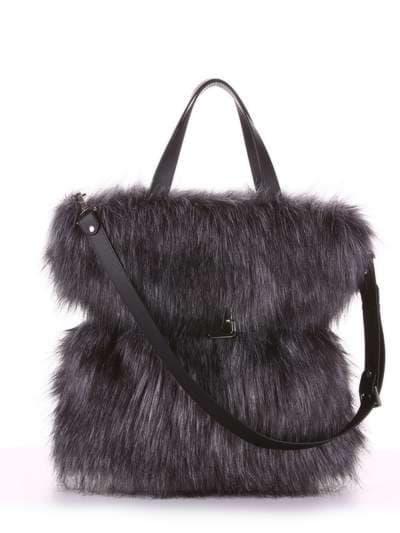 Модная сумка, модель 182931 черный. Фото товара, вид спереди.