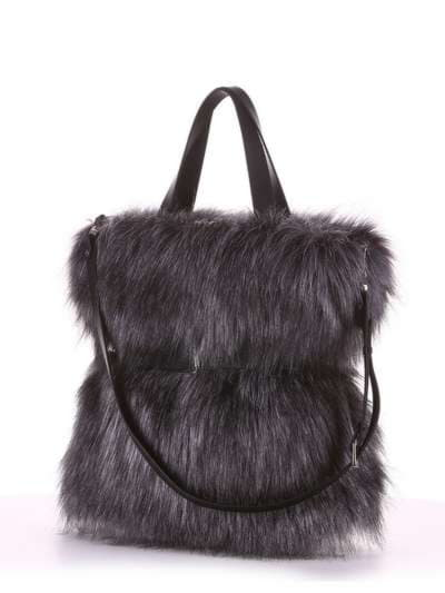 Модная сумка, модель 182931 черный. Фото товара, вид сзади.