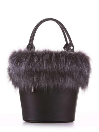 Стильна сумка, модель 182932 чорний. Фото товару, вид додатковий.