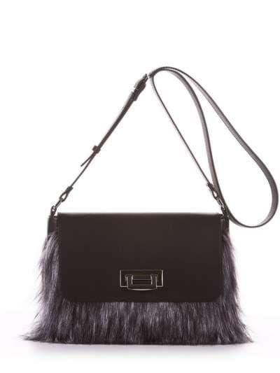Молодіжна сумка, модель 182933 чорний. Фото товару, вид спереду.