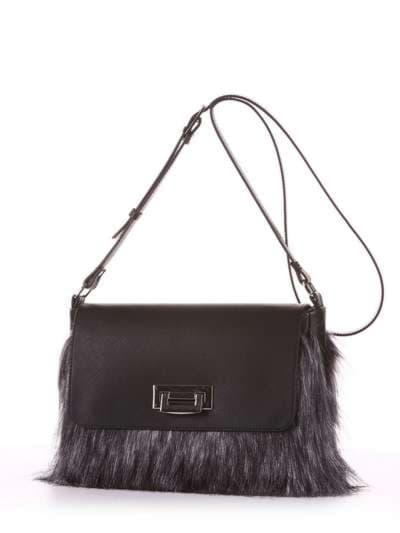 Молодіжна сумка, модель 182933 чорний. Фото товару, вид ззаду.