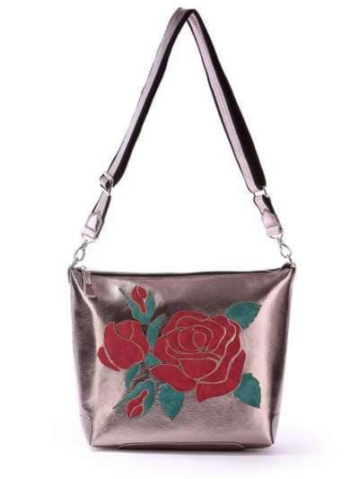 Школьная сумка, модель 171423 бронза. Фото товара, вид спереди._product-ru