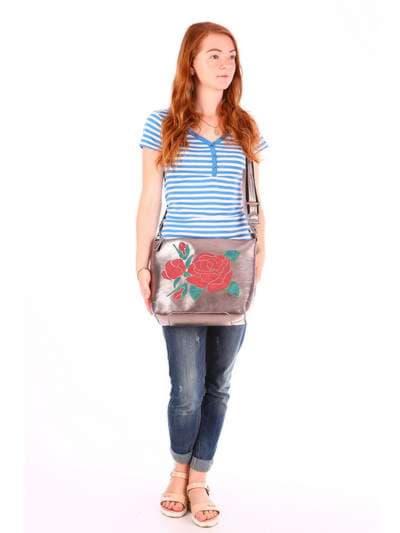 Школьная сумка, модель 171423 бронза. Фото товара, вид дополнительный.