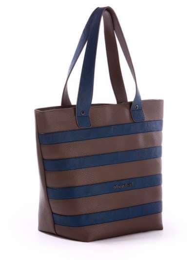 Брендовая сумка, модель 171472 коричневый-синий. Фото товара, вид спереди._product-ru