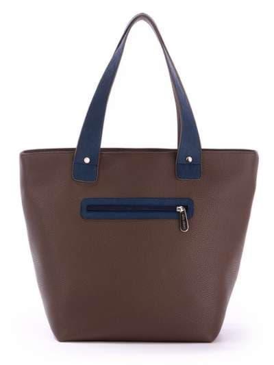 Брендовая сумка, модель 171472 коричневый-синий. Фото товара, вид сбоку.