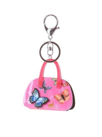 Брендовый брелок сумочка с бабочками малиновая. Фото товара, вид 1_product-ru