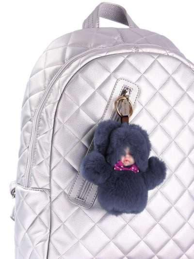 Молодежный брелок кукла в меху темно-серая. Фото товара, вид 2