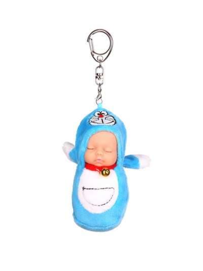 Брендовый брелок кукла плюшевая голубая. Фото товара, вид 1