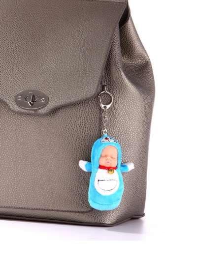 Брендовый брелок кукла плюшевая голубая. Фото товара, вид 2